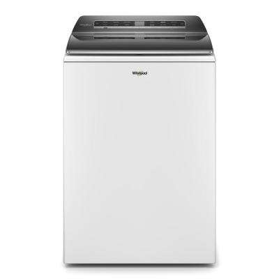 5.3 cu. ft. Smart White Top Load Washing Machine with Load and Go, Built-in Water Faucet and Stain Brush, ENERGY STAR