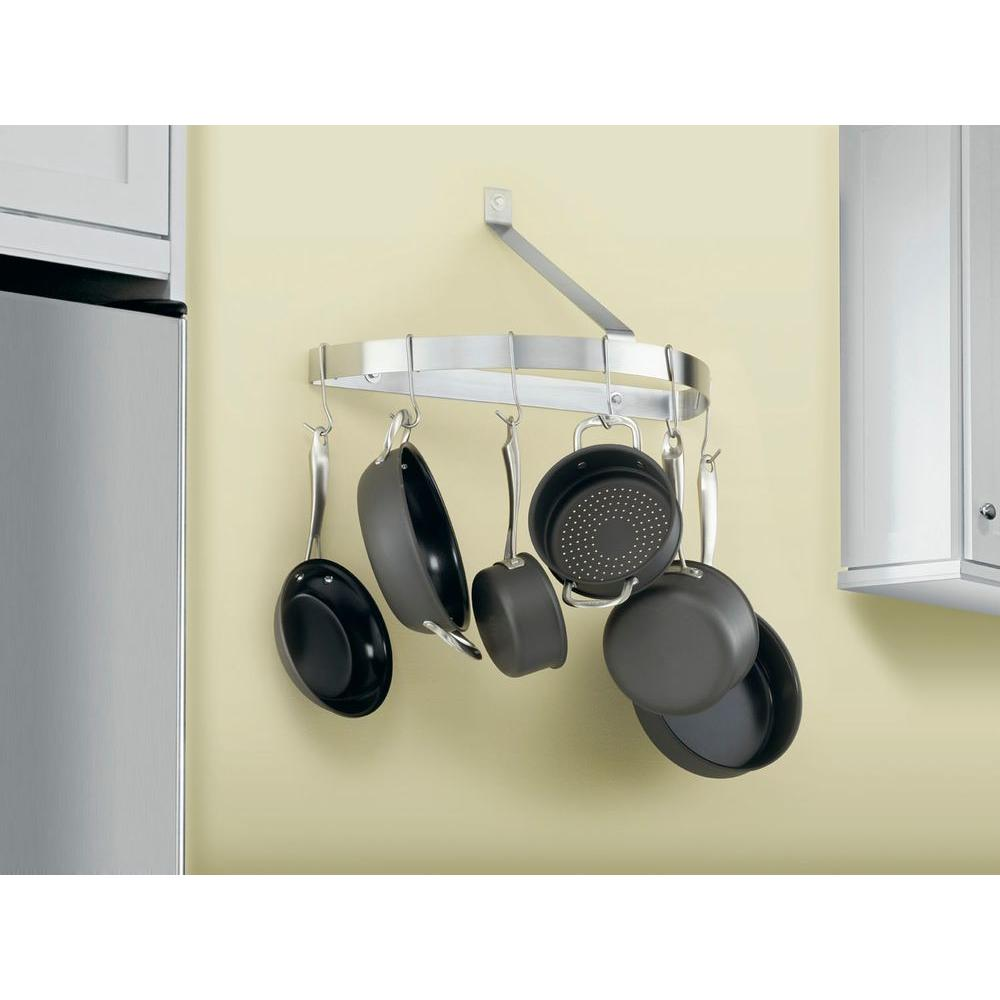 Cuisinart Half Circle Wall Pot Rack in Brushed Stainless