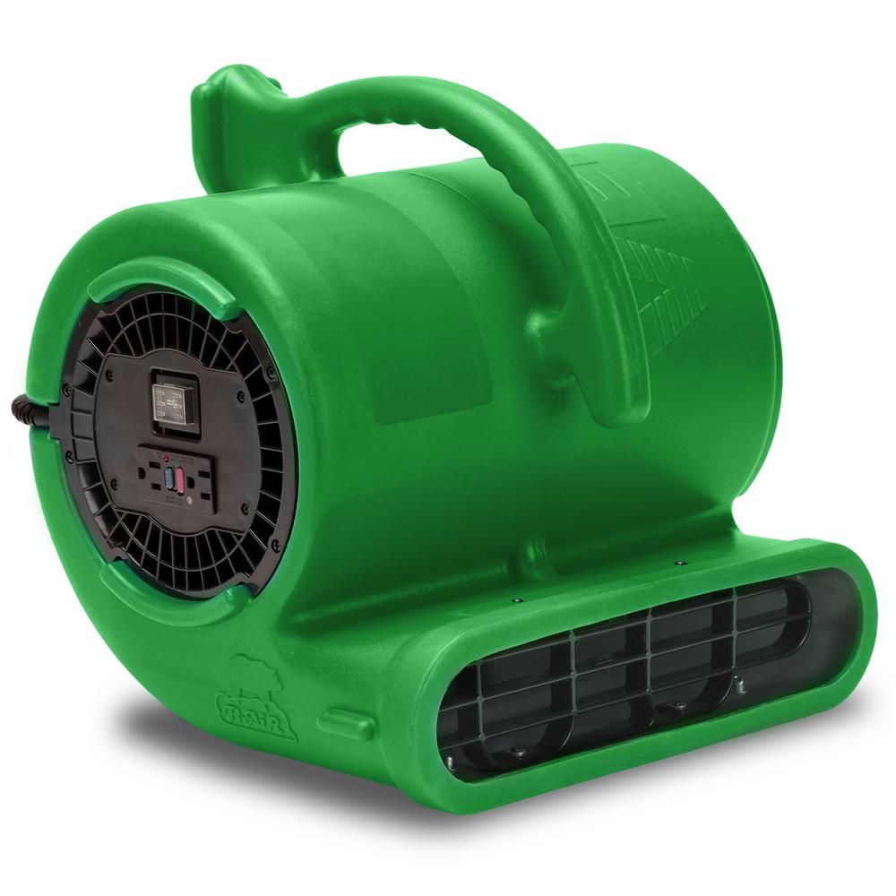 B-Air 1/3 HP Air Mover for Water Damage Restoration Carpet Dryer Janitorial Floor Blower Fan in Green
