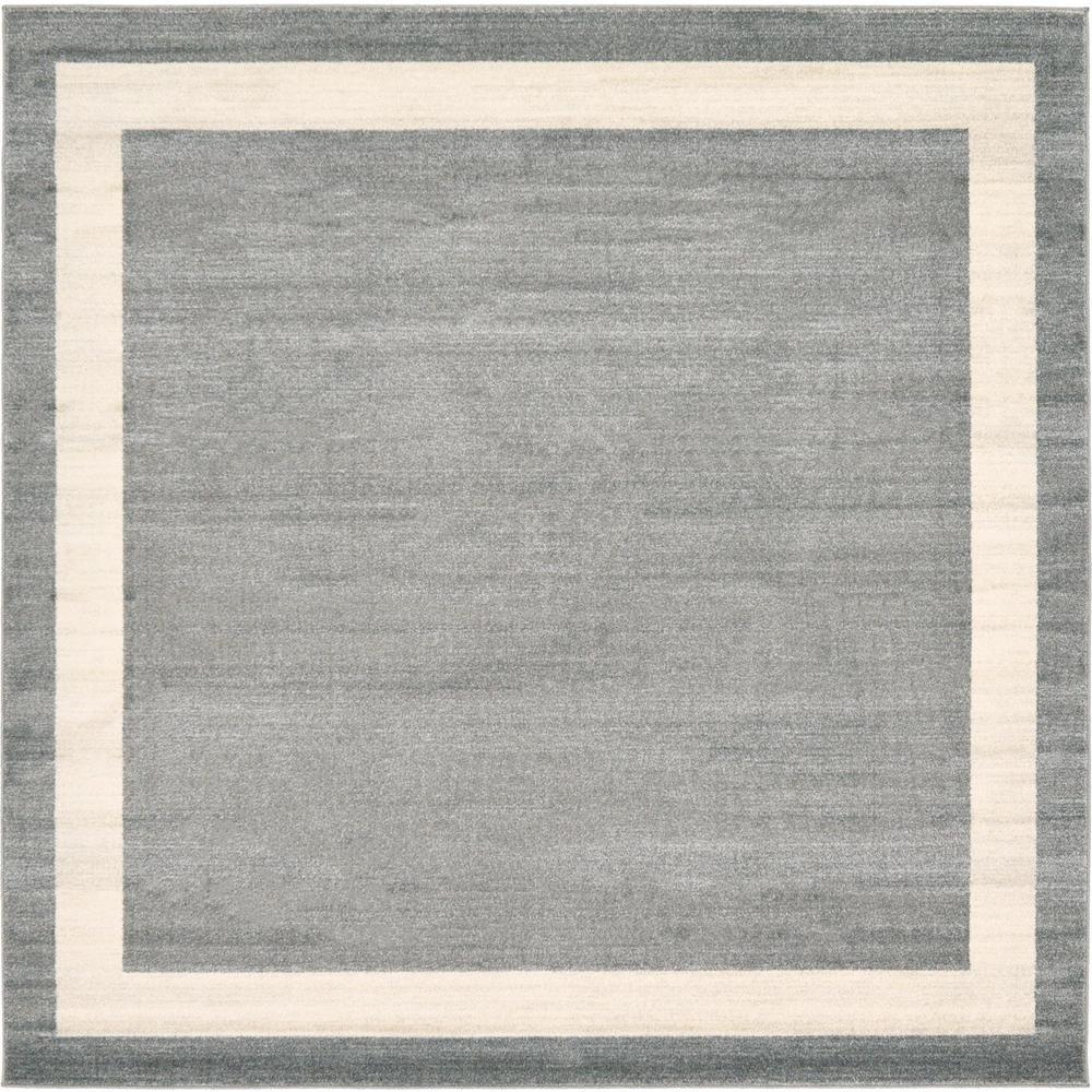 Del Mar Maria Gray 8' 0 x 8' 0 Square Rug