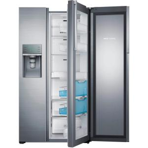 Samsung 28.5 cu. ft. Side by Side Refrigerator in Stainless Steel, Food Showcase Design by Samsung