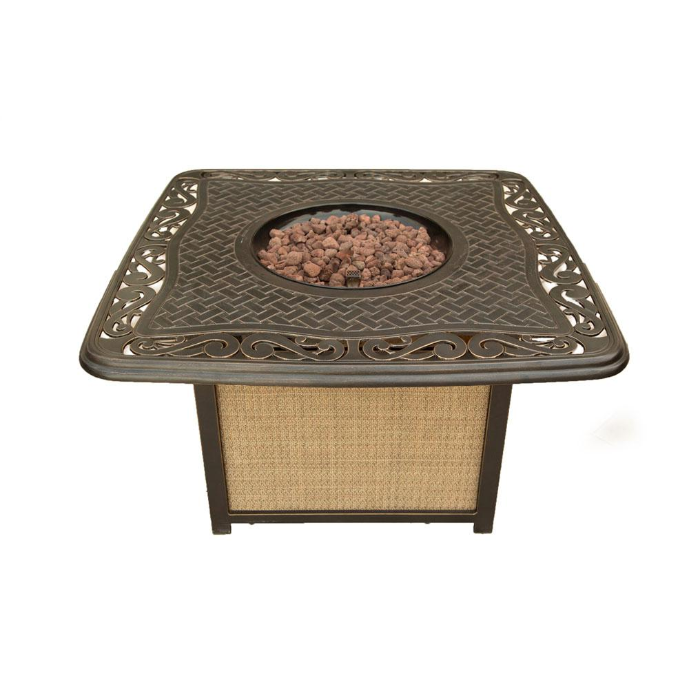 Hanover Traditions 41 in. Round Shaped Cast-Top Fire Pit