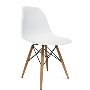 White Wood Leg Side Dining Chair