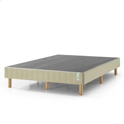 GOOD DESIGN Winner - Justina Beige California King 14 In. Quick Snap Standing Mattress Foundation