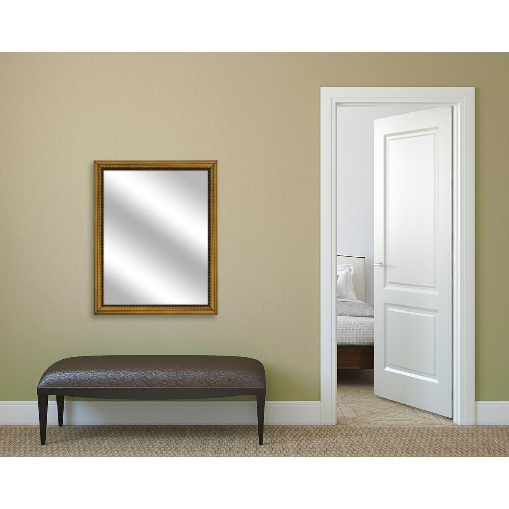 25 in. x 31 in. Antique Gold Framed Mirror