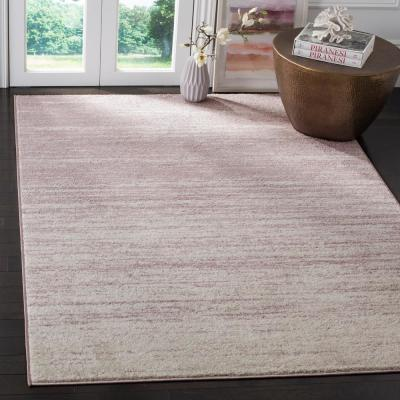 Adirondack Cream/Purple 8 ft. x 10 ft. Area Rug