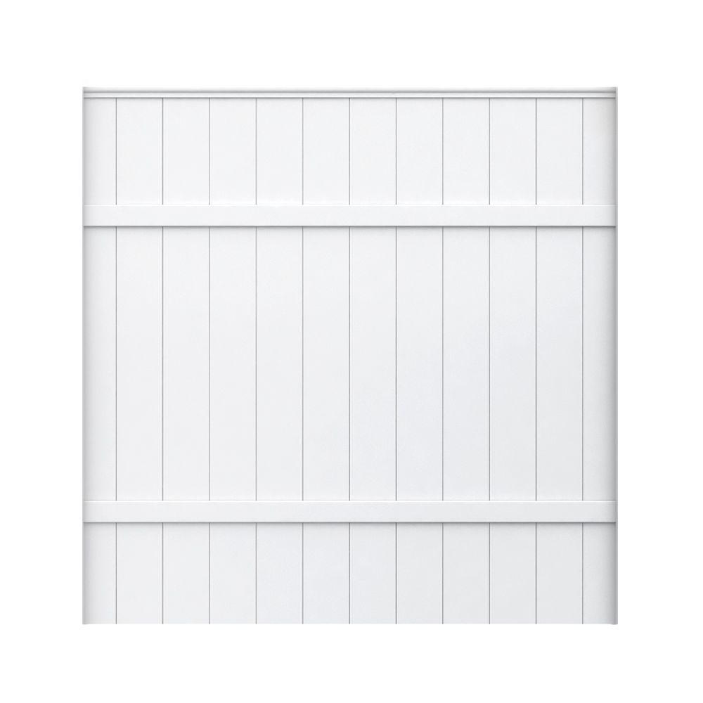 Veranda 6 ft. H x 6 ft. W White Vinyl Fence Panel
