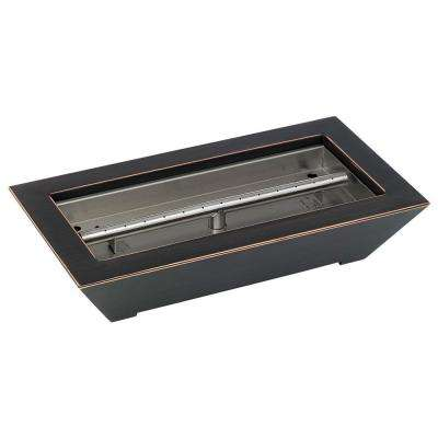 18 in. W x 10 in. D x 4 in. H Oiled Rubbed Bronze Paramount Fireplace Pan Burner