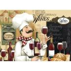 MHF Home Chef and Wine 18 in. W x 13 in. L Multi-Colored Polypropylene Placemat Set (4-Pack)
