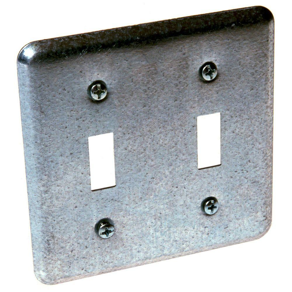 Metal Cover Plates For Electrical Steel  Covers  Electrical Boxes Conduit & Fittings  The Home Depot