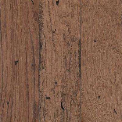 Take Home Sample - Landings View Saddle Hickory Engineered Hardwood Flooring - 5 in. x 7 in.