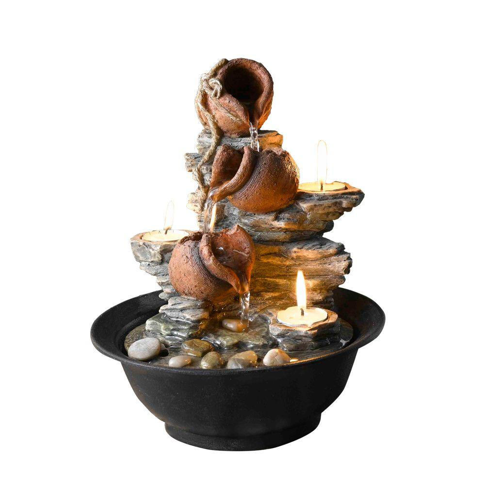 Fountain Cellar Tavolo Luci Mini Pot Tabletop With Candle Fct002 The Home Depot