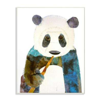 "13 in. x 19 in. ""Watercolor Cutout Collage Panda"" by Marley Ungaro Printed Wood Wall Art"