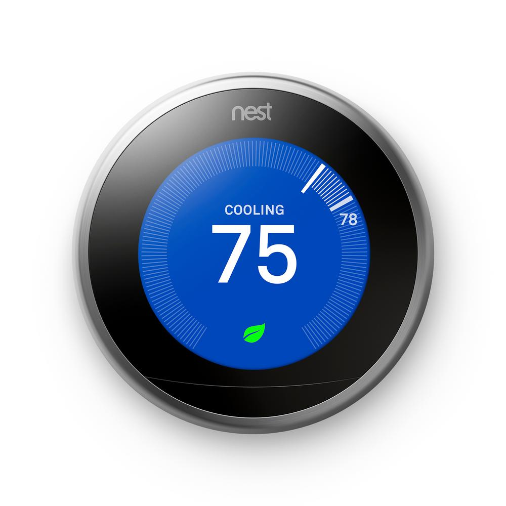 Google Nest Learning Thermostat 3rd Gen in Stainless Steel 10-pack