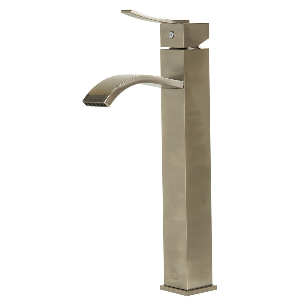 AB1158-BN Single Hole Single-Handle Bathroom Faucet in Brushed Nickel