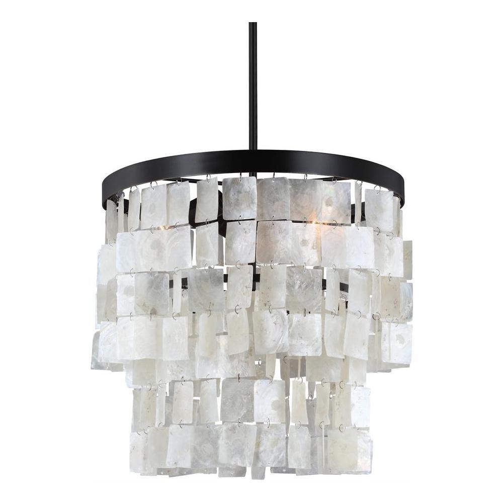 Corsicana 3-Light Heirloom Bronze Chandelier with LED Bulbs