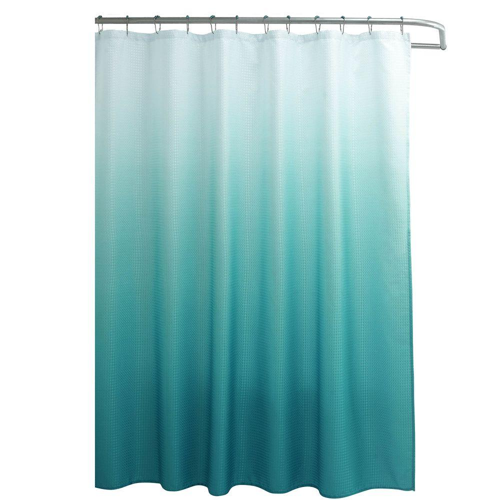 L Shower Curtain With Metal