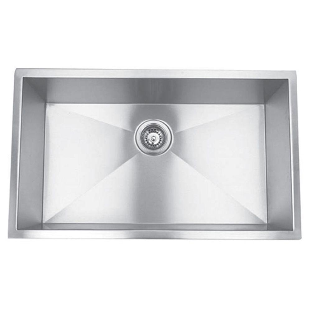 Y Decor Hardy Undermount Stainless Steel 32 In. Single Bowl Kitchen Sink