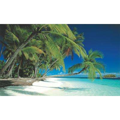 100 in. x 60 in. Window Well Scene - Beach