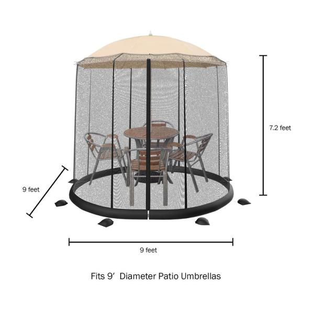 Patio Umbrella Mosquito Bug Net