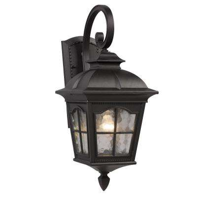 Negron 1-Light Outdoor Black Wall Lantern
