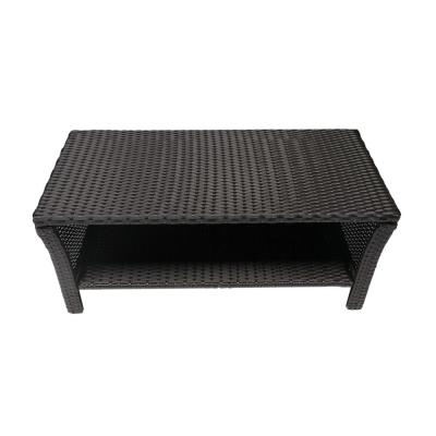 St. Lucia Brown Rectangular Wicker Outdoor Coffee Table