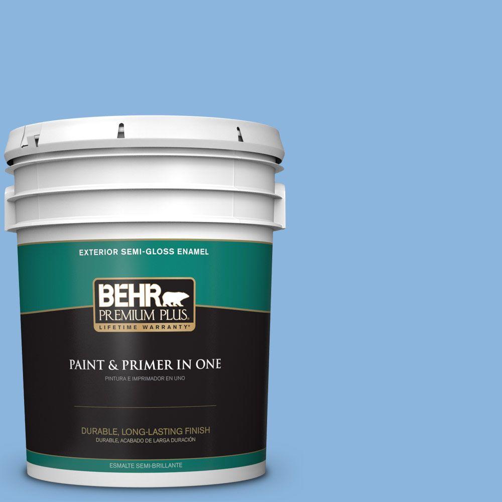 5-gal. #570B-4 Bayou Semi-Gloss Enamel Exterior Paint