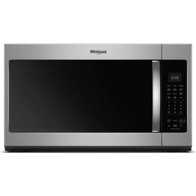 Whirlpool 1.9 cu. ft. Over the Range Microwave in Fingerprint Resistant Stainless Steel with Sensor Cooking