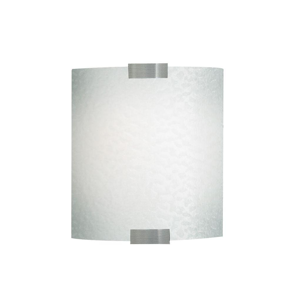 Omni 1-Light Silver Small LED Sconce with Opal Shade