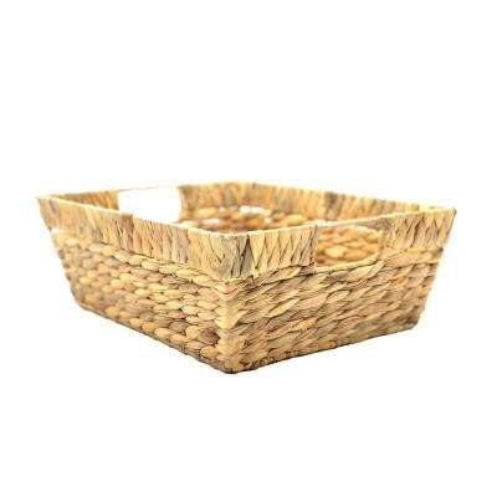 11.5 in. D x 14 in. W x 5 in. H Rectangular Water Hyacinth Wicker Baskets (Set of 2)