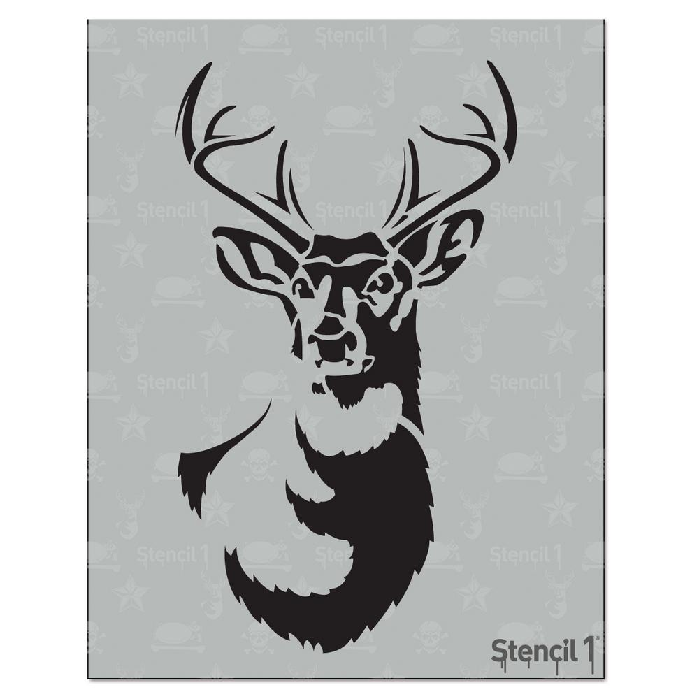 Stencil1 Antlered Deer Stencil S10152s The Home Depot