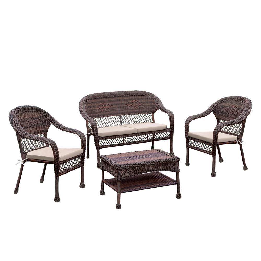 Wicker Seating Set Ivory Morris Furniture Sets