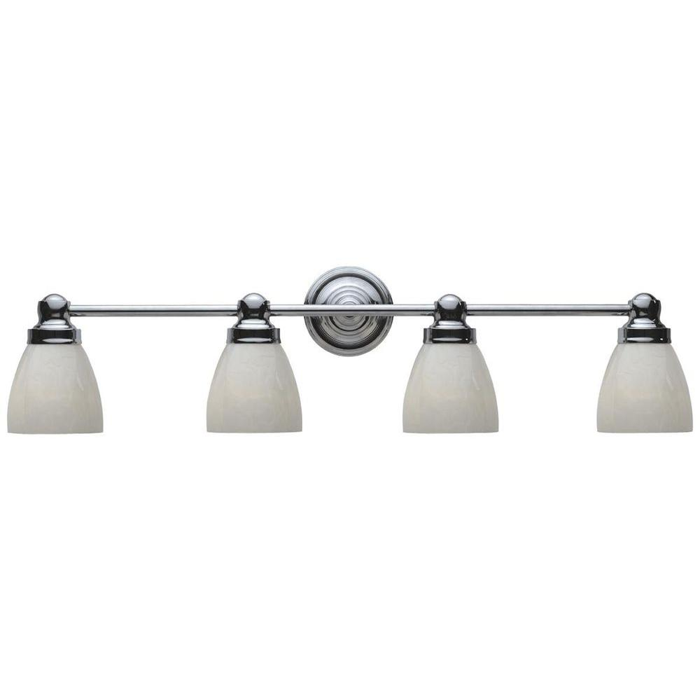 World Imports 4-Light Chrome Bath Bar Light