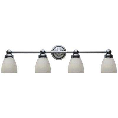 4-Light Chrome Bath Bar Light