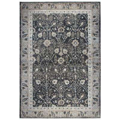 Panache Black 7 ft. 10 in. x 10 ft. 10 in. Rectangle Area Rug