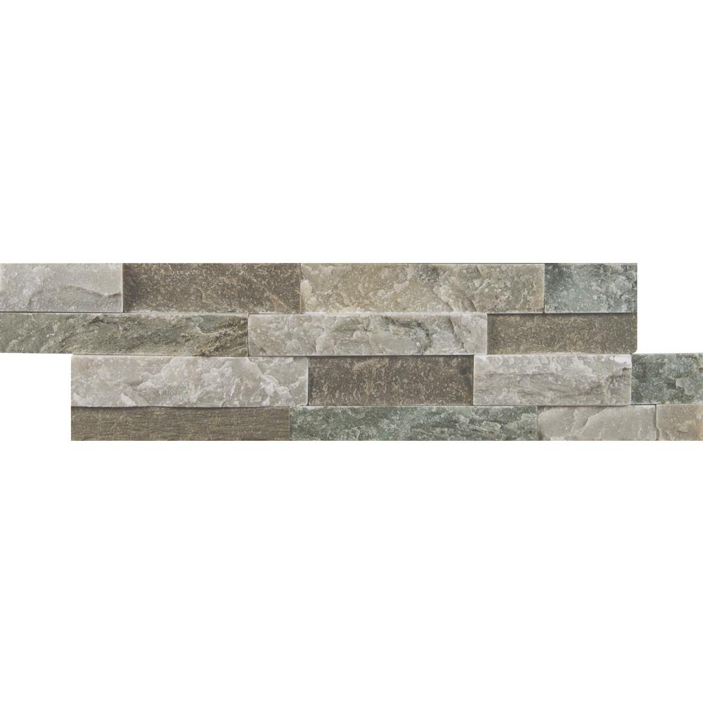 MSI Sierra Blue Ledger Panel 6 in  x 24 in  Natural Quartzite Wall Tile (10  cases / 40 sq  ft  / pallet)