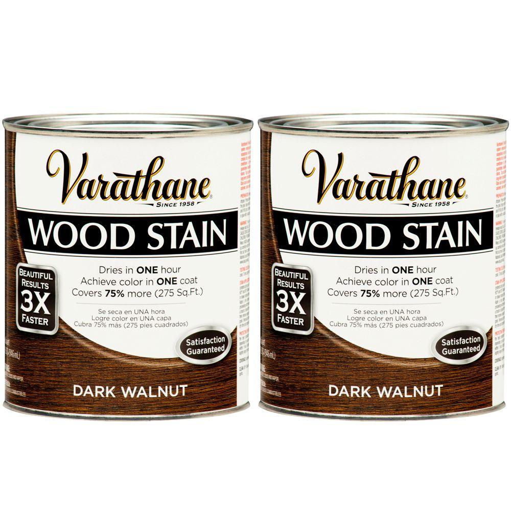 Varathane 1 Qt. Dark Walnut Wood Stain (2-Pack)-DISCONTINUED