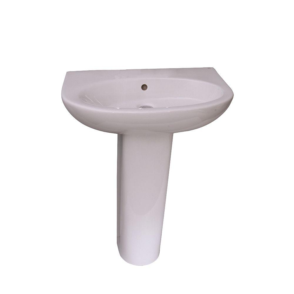 Infinity 600 24 in. Pedestal Combo Bathroom Sink with 1 Faucet