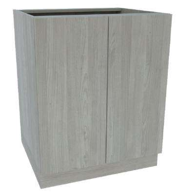 Ready to Assemble 27 in. x 34-1/2 in. x 24 in. 2 Door Base Cabinet in Grey Nordic Wood