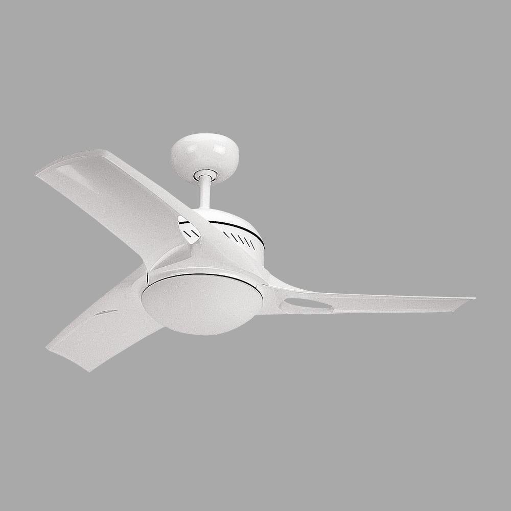 Mach Two 38 in. White Ceiling Fan