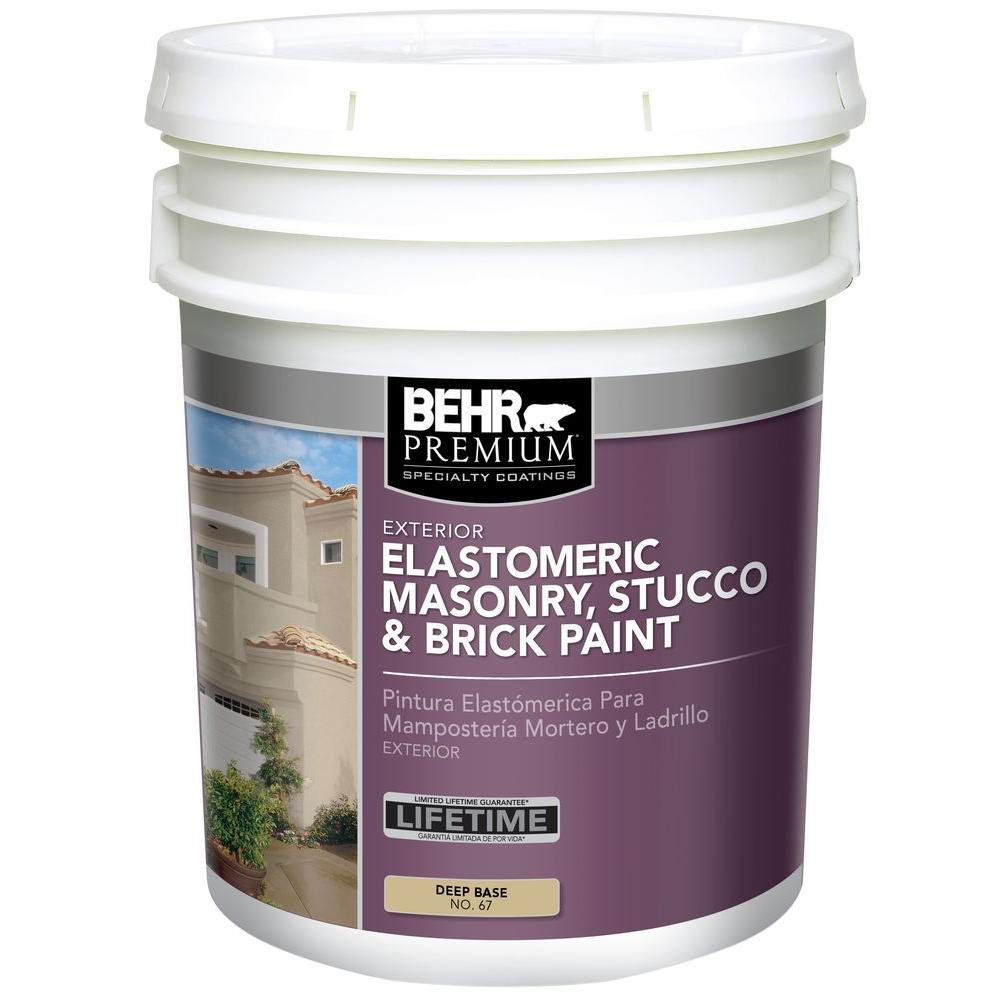 BEHR Premium 5 gal. Elastomeric Masonry, Stucco and Brick Paint ...