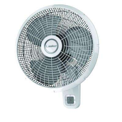 16 in. 3-Speed Oscillating Wall Mount Fan with Remote Control