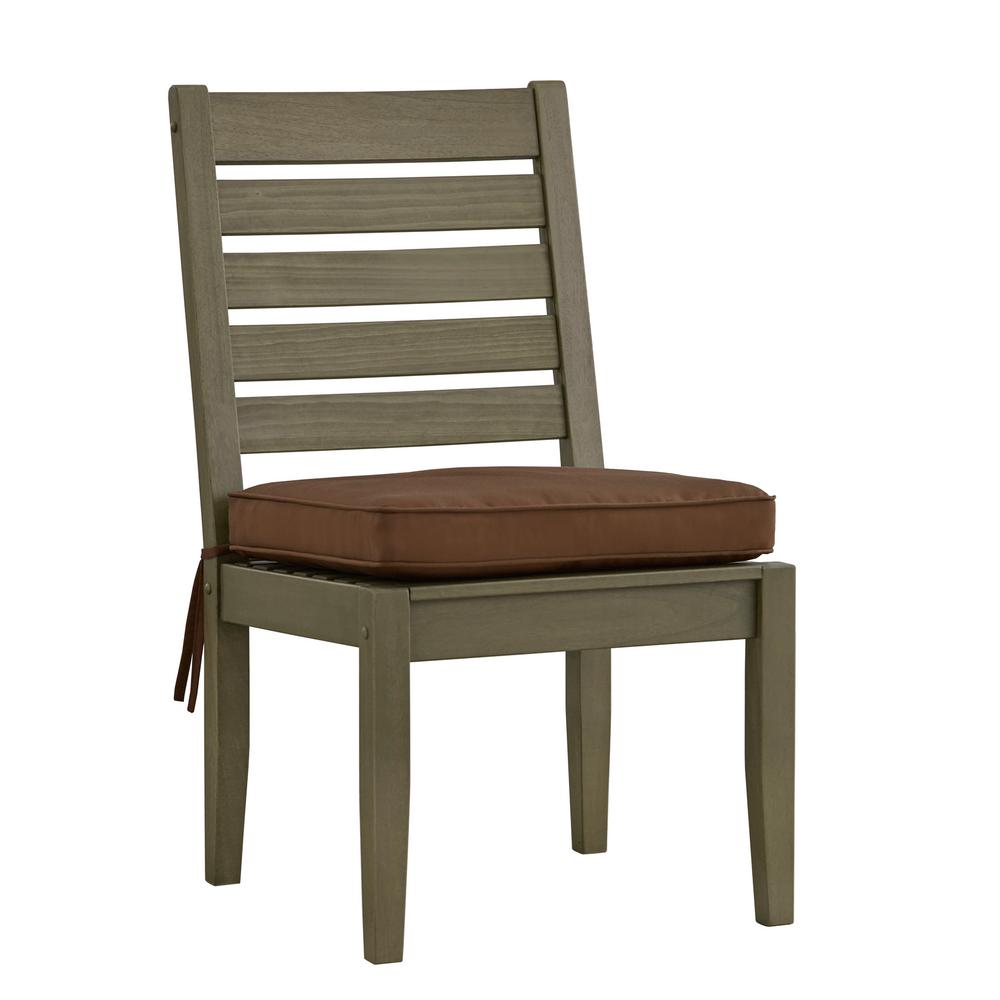 Homesullivan verdon gorge gray wood modern outdoor dining for Modern outdoor dining chairs