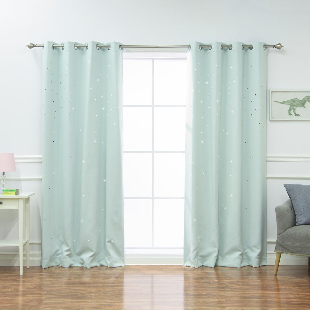 Best Home Fashion 84 In L Star Cut Out Blackout Curtains