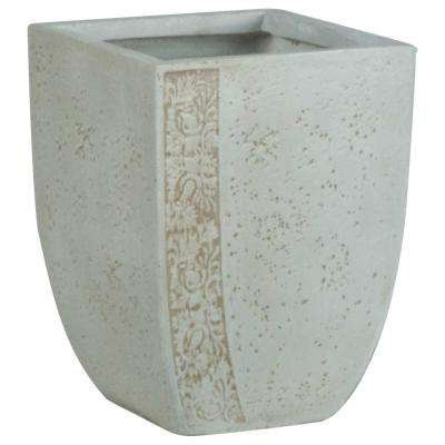 Origins Fiore 14 in. Sand Fiberclay Square Planter