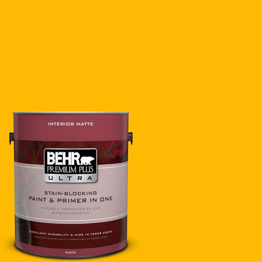 1 gal. #340B-7 Empire Yellow Flat/Matte Interior Paint