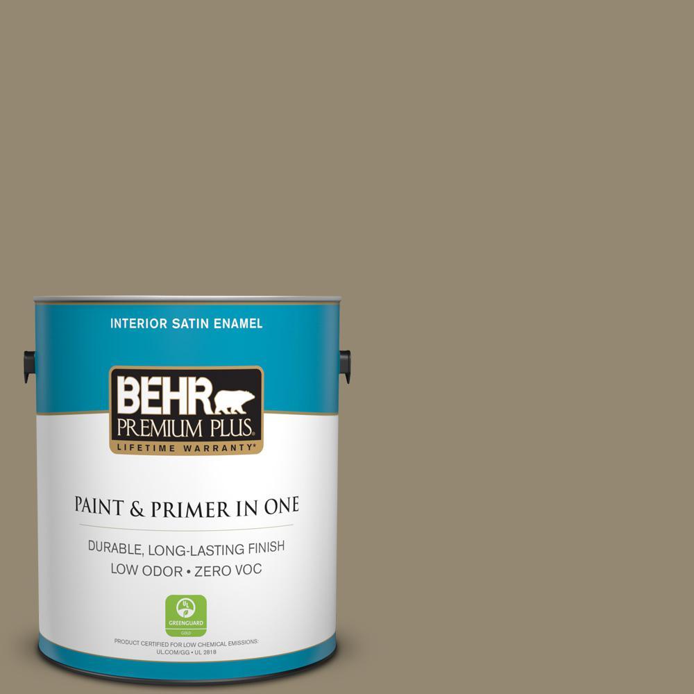 1 gal. #PPU8-03 Dry Pasture Zero VOC Satin Enamel Interior Paint