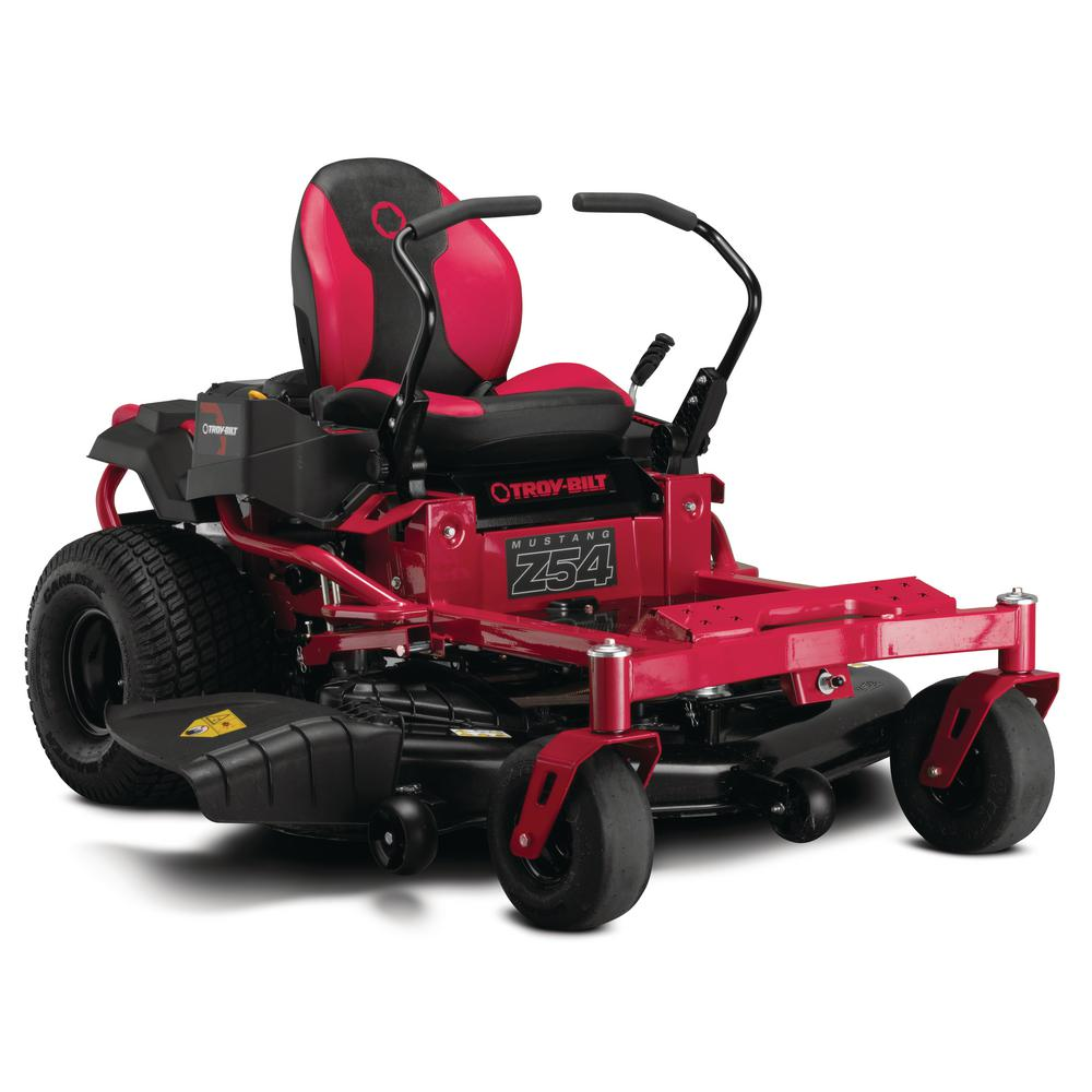 Troy-Bilt Mustang 54 in. 24 HP V-Twin Briggs and Stratton Engine Gas Zero Turn Riding Mower with Dual Hydro Transmissions