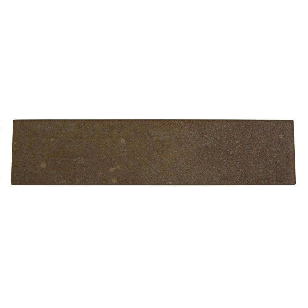 Daltile Terra Antica Oro 3 in. x 12 in. Porcelain Surface Bullnose Accent Floor and Wall Tile