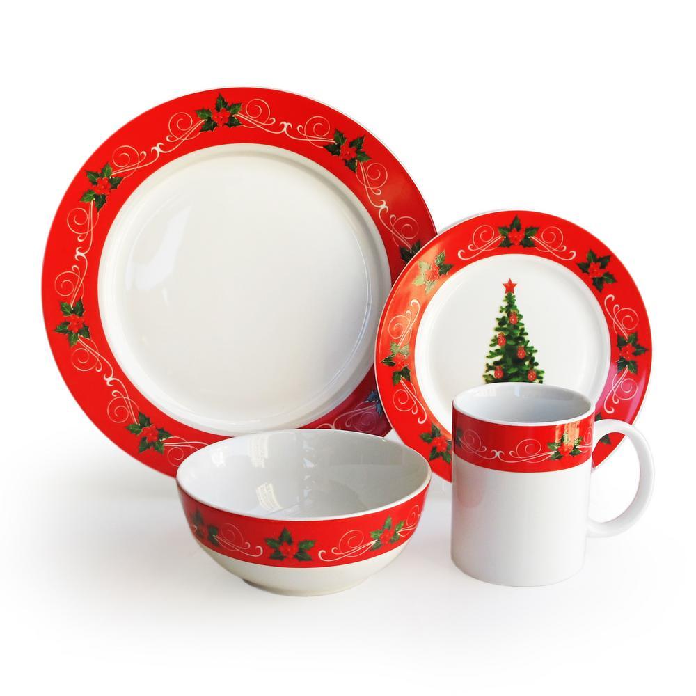 Classic Christmas 16-Piece Dinner Set